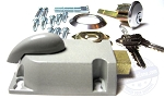 Garage Door Lock Cylinder w/ Diecast Thumb Latch (keyed randomly)